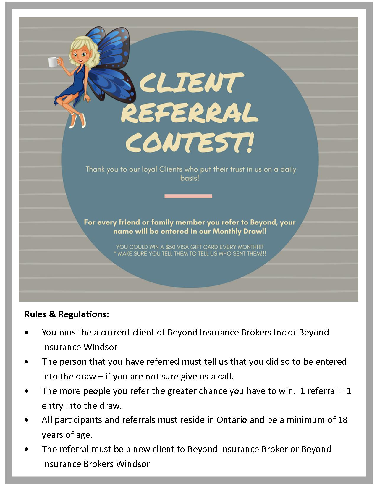 Best Car Insurance Ontario >> Referral Contest... - Beyond Insurance Brokers